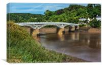 The Old Bridge At Chepstow, Canvas Print