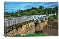 Bridge Over The River Wye, Canvas Print