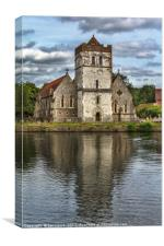 Bisham Church Reflected, Canvas Print