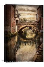 The Water Bridge In Newbury, Canvas Print