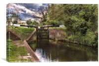 Approaching Garston Lock near Theale, Canvas Print