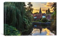 Early Evening Whitchurch on Thames, Canvas Print