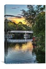 Above The Toll Bridge At Pangbourne, Canvas Print