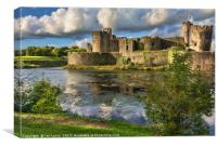 Caerphilly Castle Moat, Canvas Print