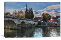 Wallingford Bridge Into The Town, Canvas Print