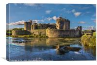 Caerphilly Castle South Facing Walls, Canvas Print