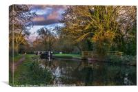 Autumn Reflections On The Kennet, Canvas Print