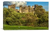 The Battlements of Caerphilly, Canvas Print