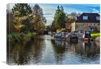 Hungerford Town Wharf And Lock, Canvas Print