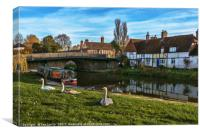 The Swan Family Visiting Hungerford, Canvas Print