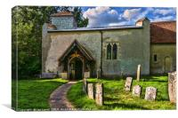 St Nicholas Church Ibstone, Canvas Print
