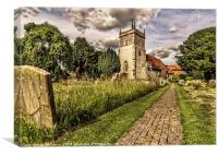 Bucklebury Parish Church Berkshire, Canvas Print