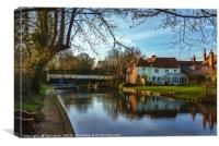 Kennet and Avon At Sulhamstead, Canvas Print
