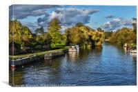 The River Thames at Wallingford, Canvas Print