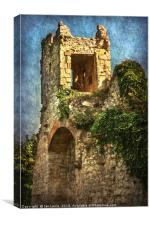 Turret at Wallingford Castle, Canvas Print