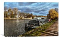 The Thames Path At Cookham, Canvas Print