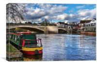 Caversham Bridge in Reading, Canvas Print