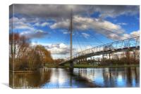 Christchurch Footbridge Reading, Canvas Print