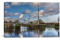 Footbridge Over The Thames At Reading, Canvas Print