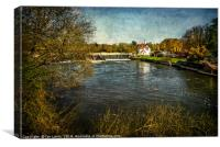 Goring on Thames Weir, Canvas Print