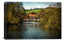 Over The Thames To Streatley, Canvas Print