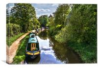 Boats On The Oxford Canal, Canvas Print