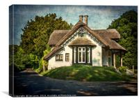 A  Thatched Cottage At Sulham, Canvas Print