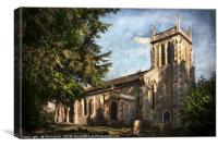 St Nicholas Church Sulham, Canvas Print