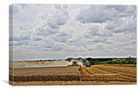 Harvest at Langham, Norfolk, Canvas Print