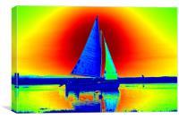 Sailing at Blakeney, Canvas Print