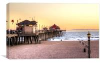 Huntington Beach Pier, Canvas Print