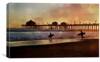 California Surf, Canvas Print