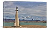 Lighthouse on Lake Havasu, Canvas Print