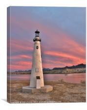 Wind Point Light House, Canvas Print