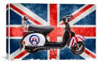 motoring icon, Canvas Print
