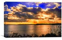 golden rays over falmouth bay , Canvas Print