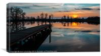 Sunset Reflection, Canvas Print