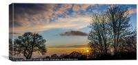 Devon Sunset, Canvas Print