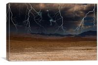 Death Valley Storm, Canvas Print