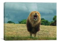 King of the Beasts, Canvas Print