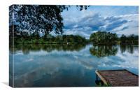 Lakeside reflection, Canvas Print