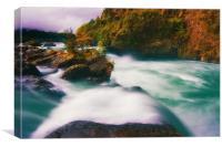 Saltos de Petrohue in Autumn, Canvas Print