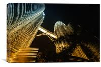 Petronas Towers in colour cast, Canvas Print
