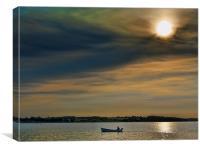 Midday sailing, Canvas Print