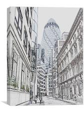 The Gherkin, Canvas Print