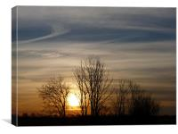 November Sunset, Canvas Print