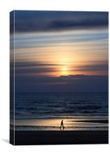 Prestwick sunset, Canvas Print