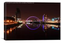 "The ""Squinty"" Bridge, Glasgow, Canvas Print"