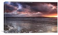 Prestwick sunset, Canvas Print