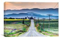 Road to Church, Canvas Print